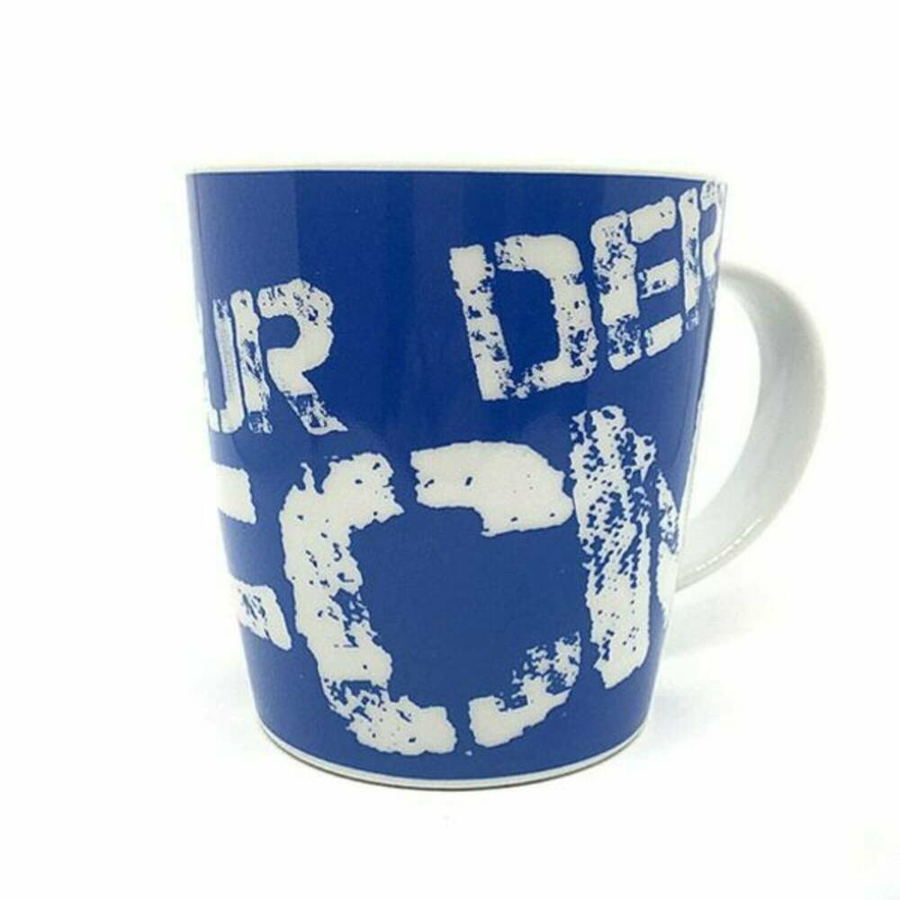 tasse glas blau